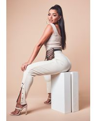 Missguided - Sand Ribbed Joggers - Lyst