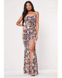 05b99406aa2c Missguided Petite Coral Frill Detail Maxi Dress in Pink - Lyst