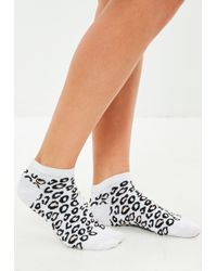 Missguided | Leopard Print Sneakers Socks | Lyst
