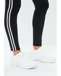Missguided - White Chunky Lace Up Sneakers - Lyst