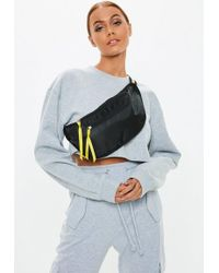 Missguided - Yellow Striped Bumbag - Lyst