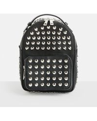 Missguided - Black Studded Mini Backpack - Lyst