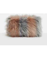 Missguided | Pink Fluffy Clutch Bag | Lyst