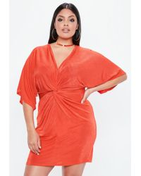 52d5008b350 Lyst - Missguided Plus Size Lace Strappy Dress Red in Red