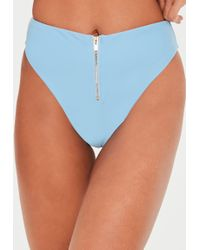 b256baf16d Missguided Black Gingham Frill Tie Front Bikini Top - Mix   Match in ...