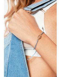 Missguided - Blue Third Eye Shakra Bracelet - Lyst