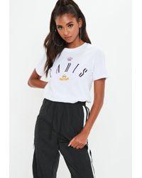Missguided - White Paris Graphic Tshirt - Lyst