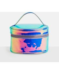 Missguided - Silver Iridescent Holographic Circle Makeup Bag - Lyst