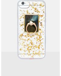 Missguided - Gold Sequin Knocker Iphone Case - Lyst