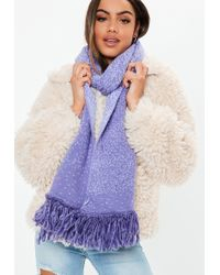 Missguided - Purple Speckle Detail Scarf - Lyst