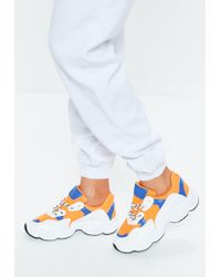 Missguided - Orange Contrast Lace Chunky Sole Sneakers - Lyst