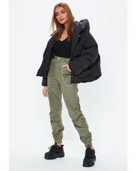 Missguided - Khaki Chain Cargo Pants - Lyst