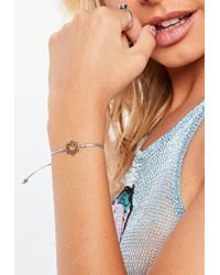 Missguided - Purple Crown Shakra Bracelet - Lyst