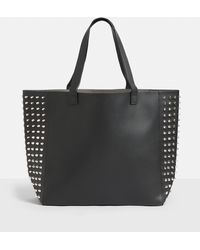 Missguided - Black Studded Side Shopper Bag - Lyst
