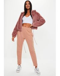 Missguided Tall Pink Basic Joggers