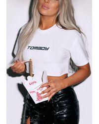 Missguided - Fanny Lyckman X White Tomboy Logo Crop Top - Lyst