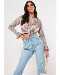 707f04b050b Missguided Yellow Girl Gang Embroidered Striped Crop Top in Yellow ...