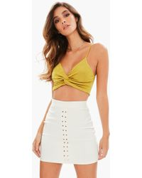 728f32590a2f5 Missguided - Yellow Acetate Twist Front Bralette - Lyst