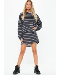 618c3d88de Lyst - Missguided Black Scarf Print Wrap Dress in Black