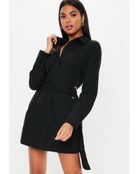 dedf1ce655b Missguided Mesh Panel T-shirt Dress Black in Black - Lyst