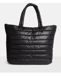 Missguided - Black Quilted Tote Bag - Lyst