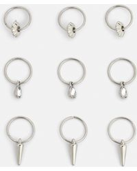 Missguided - Silver Detail Hair Rings - Lyst