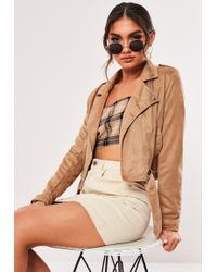 1e1f1c86eb0dbc Lyst - Missguided Sleeveless Belted Duster Jacket Camel in Natural