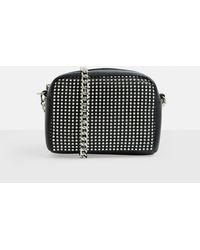 Missguided - Black Chain Mail Front Chain Cross Body Bag - Lyst