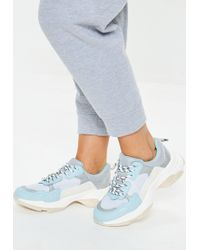 Missguided - Blue Minimal Upper Chunky Trainers - Lyst