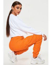 Missguided - Orange Plain Cargo Pants - Lyst