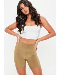 Missguided - Camel Slinky Cycling Shorts - Lyst