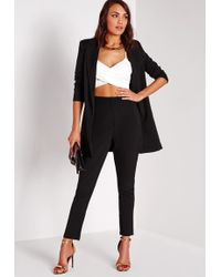 Missguided - Tailored Cigarette Trousers Black - Lyst