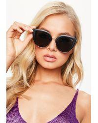 Missguided - Quay Australia X Matte Black & Gold/smoke Oh My Dayz Sunglasses - Lyst