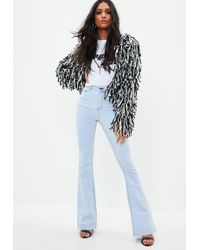 Missguided - Blue Lawless Stretch Flare Jeans - Lyst