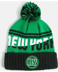 514ad809714 Missguided - Green New York Colour Block Bobble Hat - Lyst