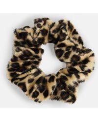 Missguided - Brown Leopard Print Scrunchie - Lyst