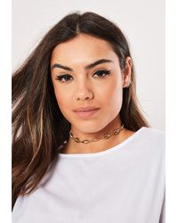 Missguided - Gold Look Conch Shell Necklace - Lyst