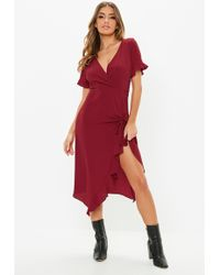 Lyst - Missguided Red Bodycon Midi Dress in Red b72f1dac1