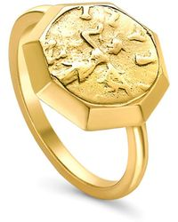 Missoma - Lucy Williams X Octagon Coin Ring - Lyst