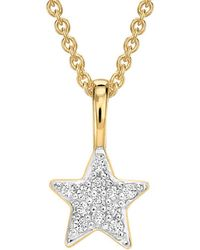 Missoma - Gold Pave Star Charm Necklace - Lyst
