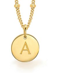 Missoma - Gold A Initial Necklace - Lyst