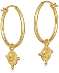 Missoma - Lucy Williams Beaded Coin Charm Hoops - Lyst
