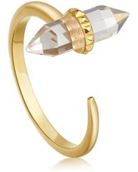 Missoma - Crystal Single Wand Ring - Lyst