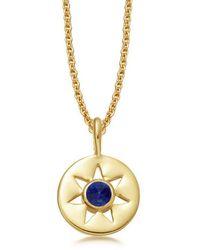 Missoma - Lapis September Birthstone Necklace - Lyst