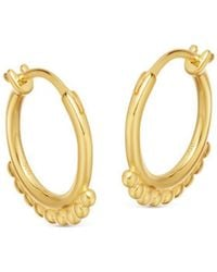 Missoma - Lucy Williams X Mini Beaded Hinged Hoops - Lyst