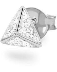 Missoma - Silver Single Pave Triangle Stud - Lyst