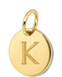 Missoma - Gold Initial K Disc - Lyst