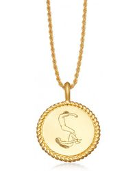 Missoma - Body Language S Initial Necklace By Fee Greening - Lyst