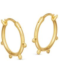 Missoma - Lucy Williams X Tiny Orb Hinged Hoops - Lyst