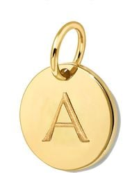 Missoma - Gold Initial A Disc - Lyst